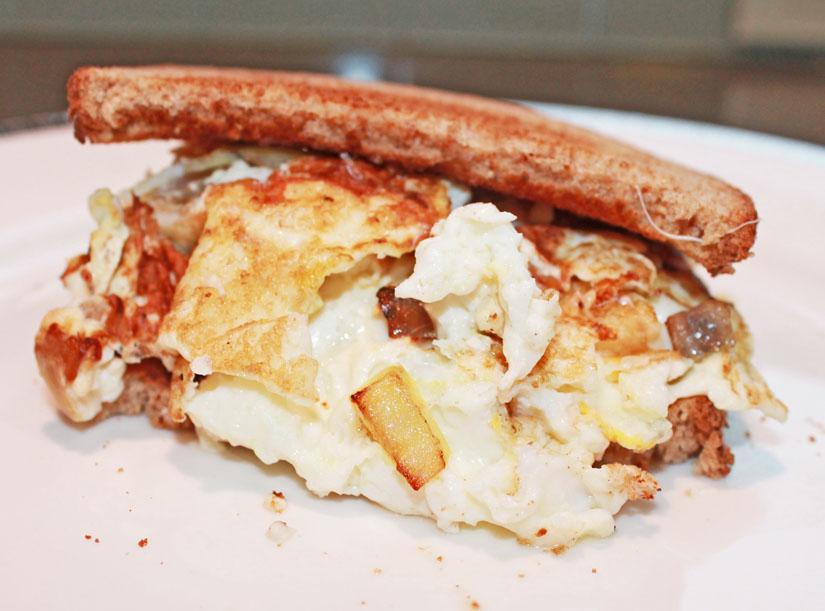 clean eating recipes - egg white sandwich