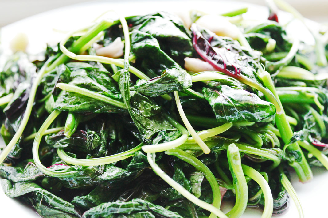 clean eating idea - chinese turnip greens