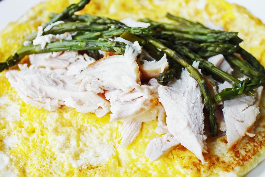 clean eating idea - egg turkey asparagus wrap 2