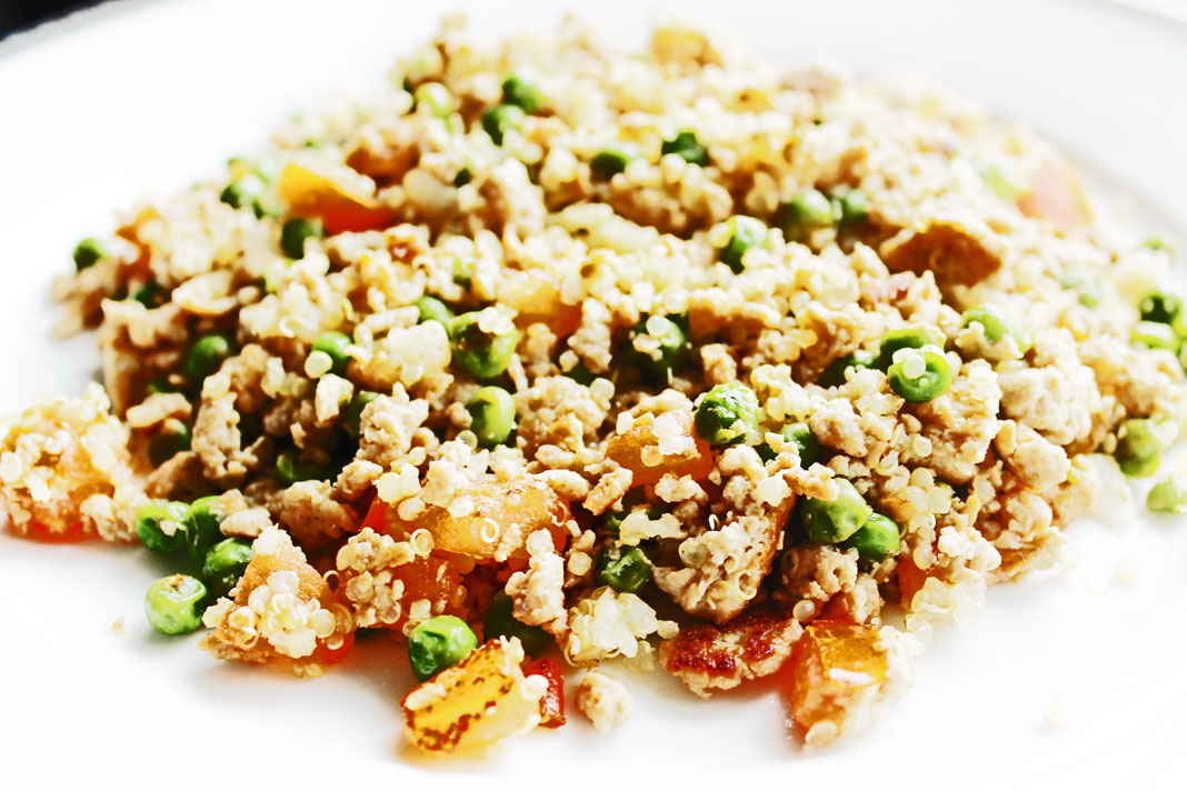 clean eating idea - stir fry quinoa 3