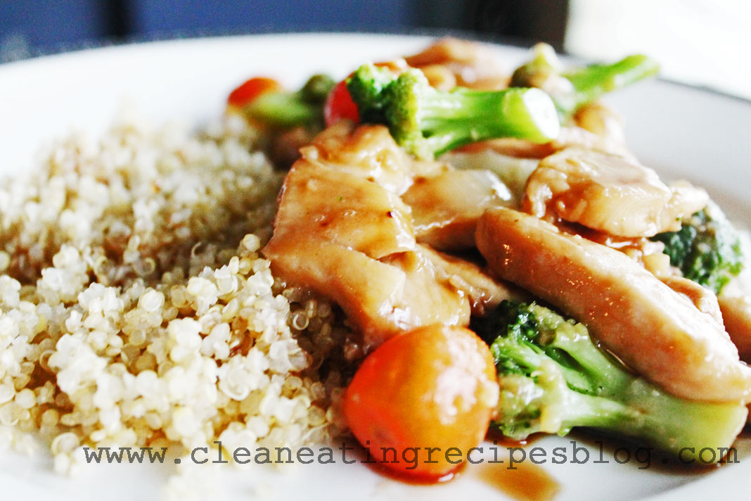 clean eating recipe - teriyaki chicken 3