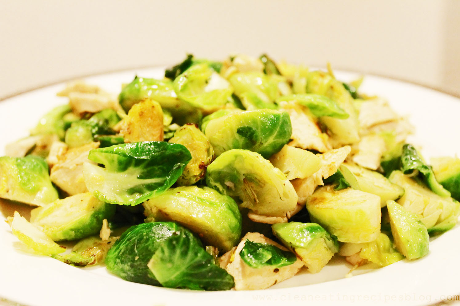 Clean Eating Recipe – Stir Fry Brussels Sprout and Chicken