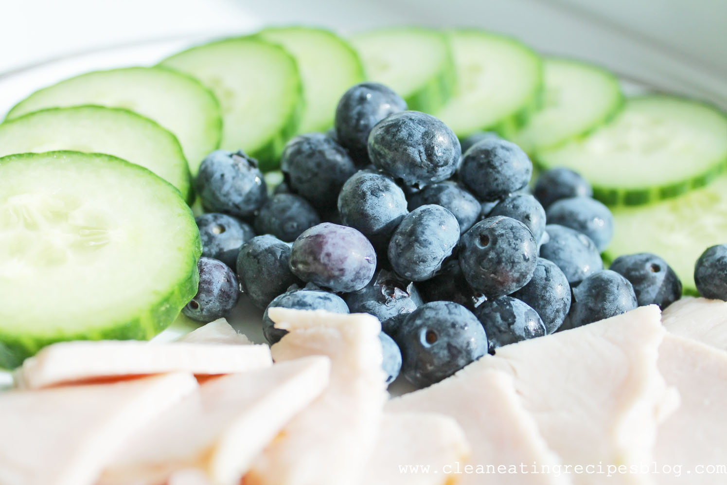 Clean Eating Snack Idea – Cucumber Slices, Blueberries and All ...