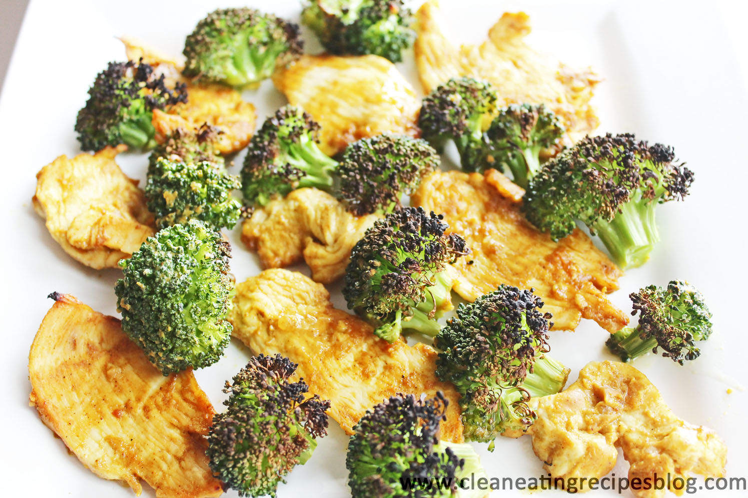 Clean Eating Dinner – Peanut Sauce Chicken and Broccoli Broil
