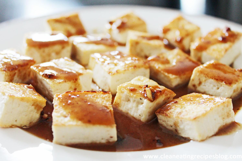 Clean Eating Recipe – Tofu with Ginger-Garlic Sauce