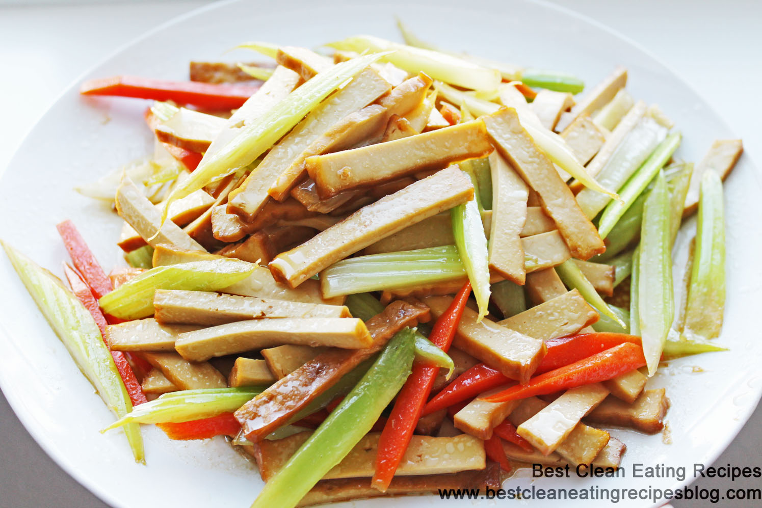 Clean Eating Recipe – Stir Fry Dry Tofu and Celery | Weight Loss ...