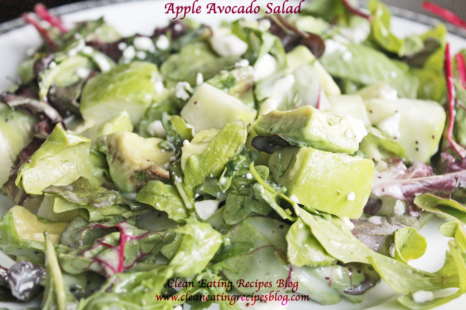 Easy Healthy Recipe – Clean Eating Apple Avocado Salad