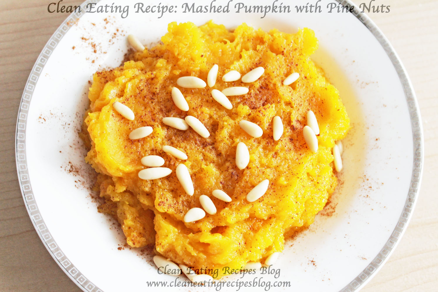 Thanksgiving Side Dish for Clean Eating: Mashed Pumpkin with Pinenuts