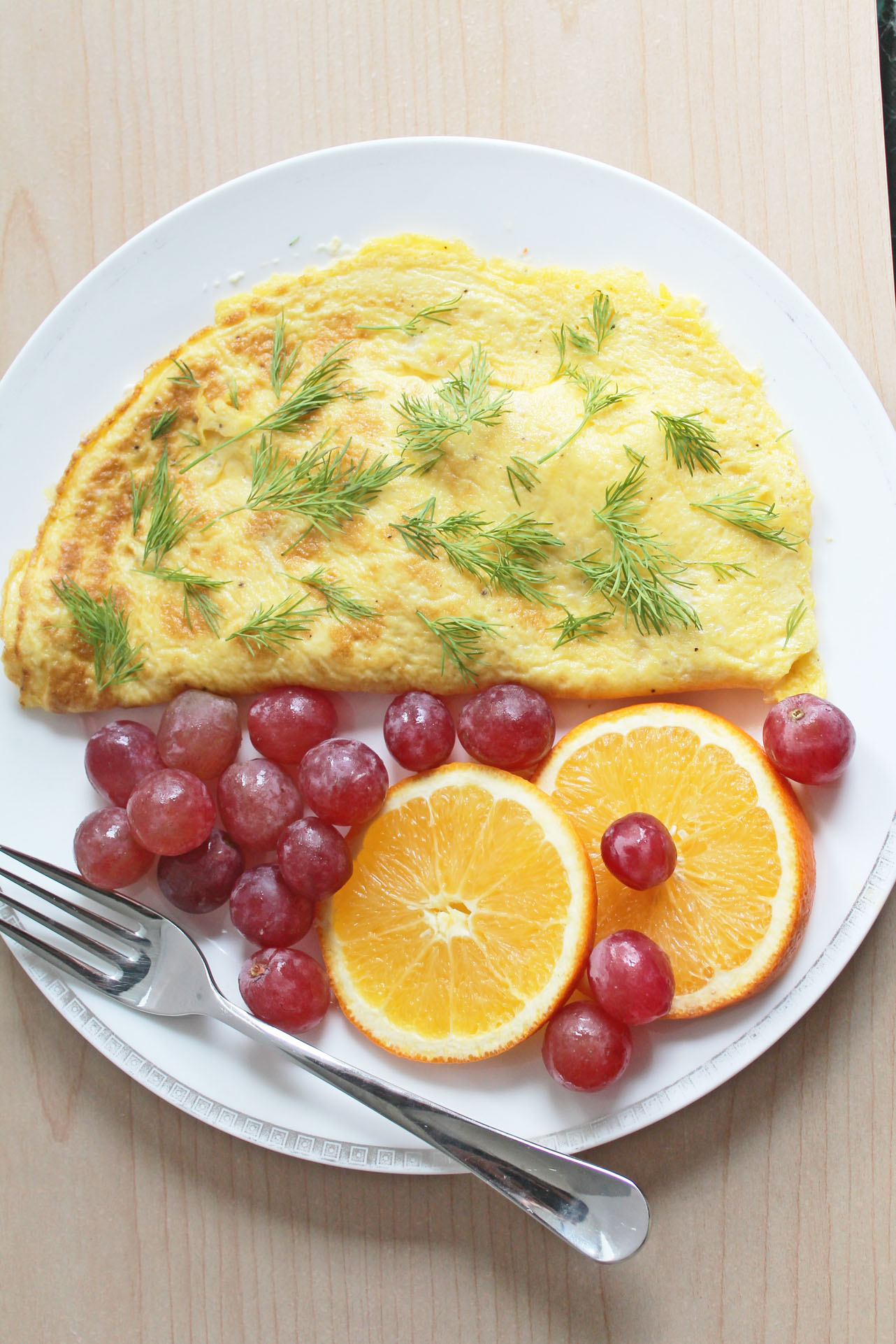 Healthy Breakfast Option: Shrimp-Salmon-Cream Cheese Omelette