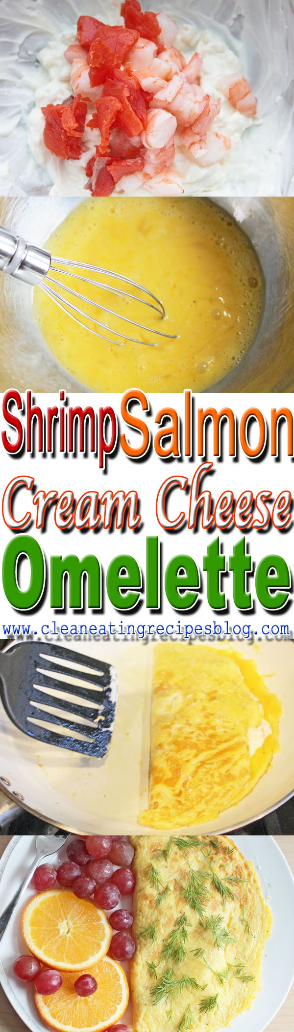 clean eating recipe - cream cheese omelette